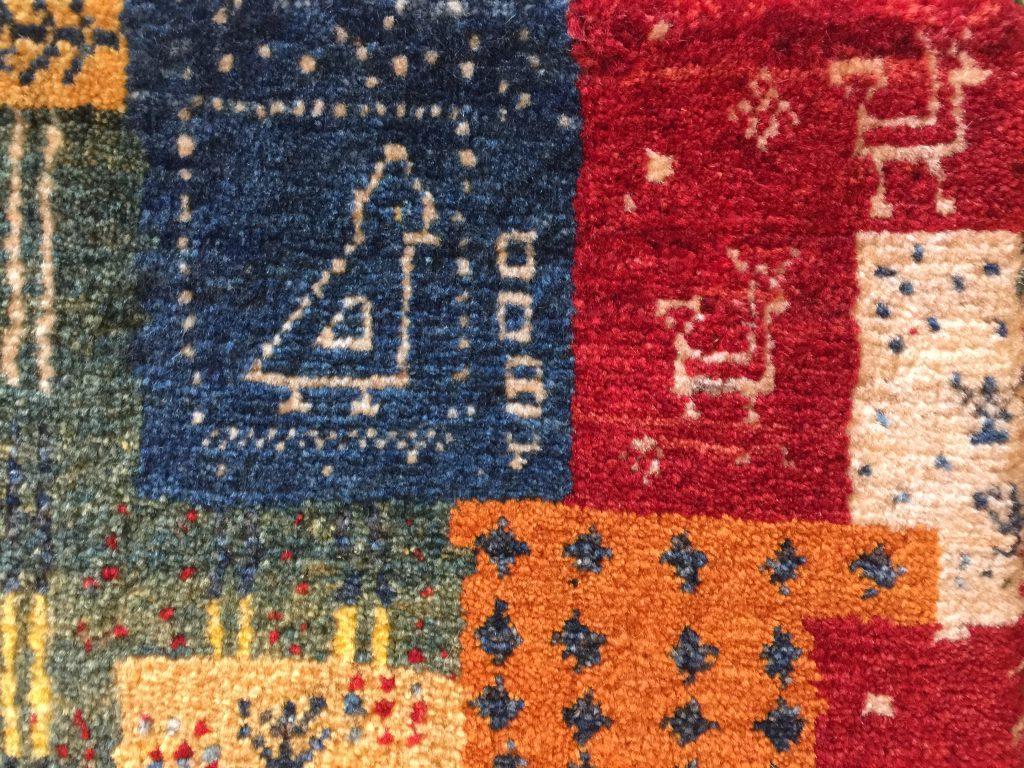 手織り,草木染め,ギャッベ,可愛い,敷物,イラン,羊毛,遊牧民,静岡,呉服町,パシャ,アートライン