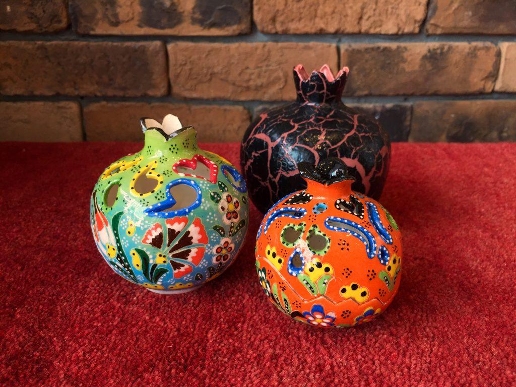 ザクロ,陶器,キュタフヤ陶器,トルコ陶器,置物