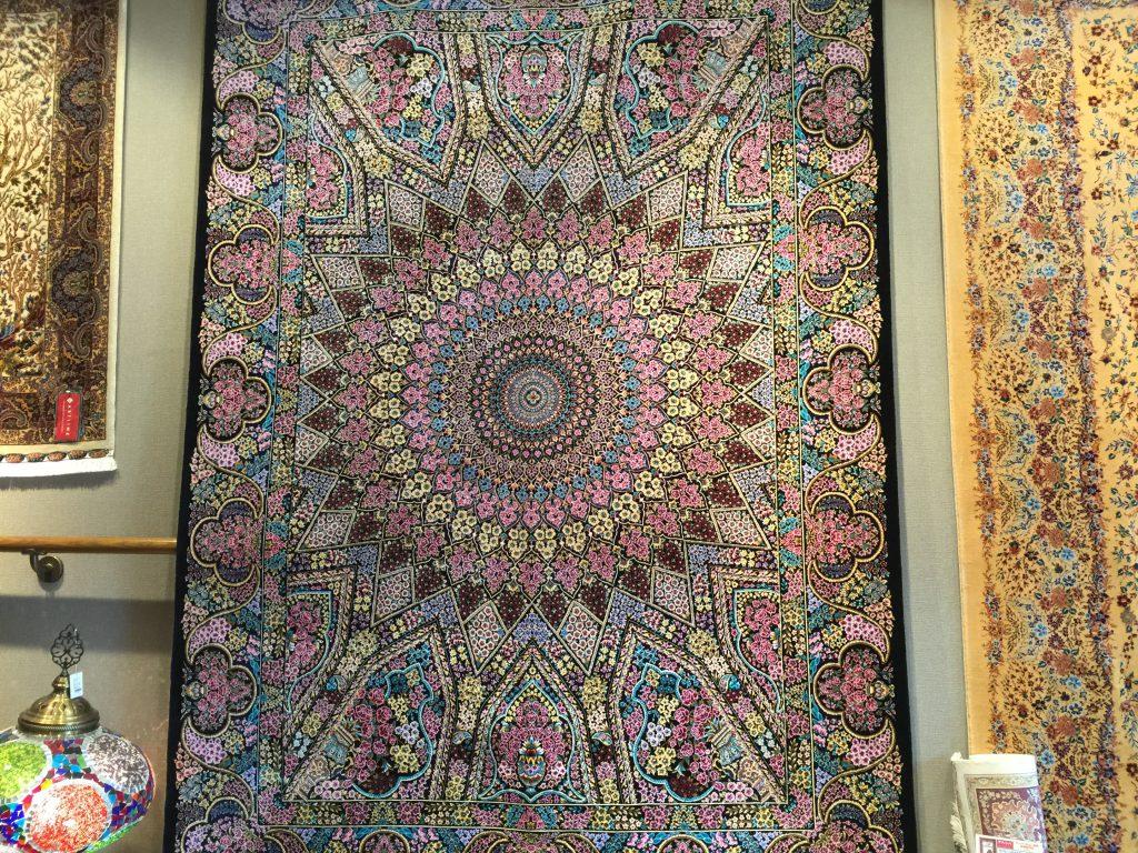 バンブー絨毯 198×133