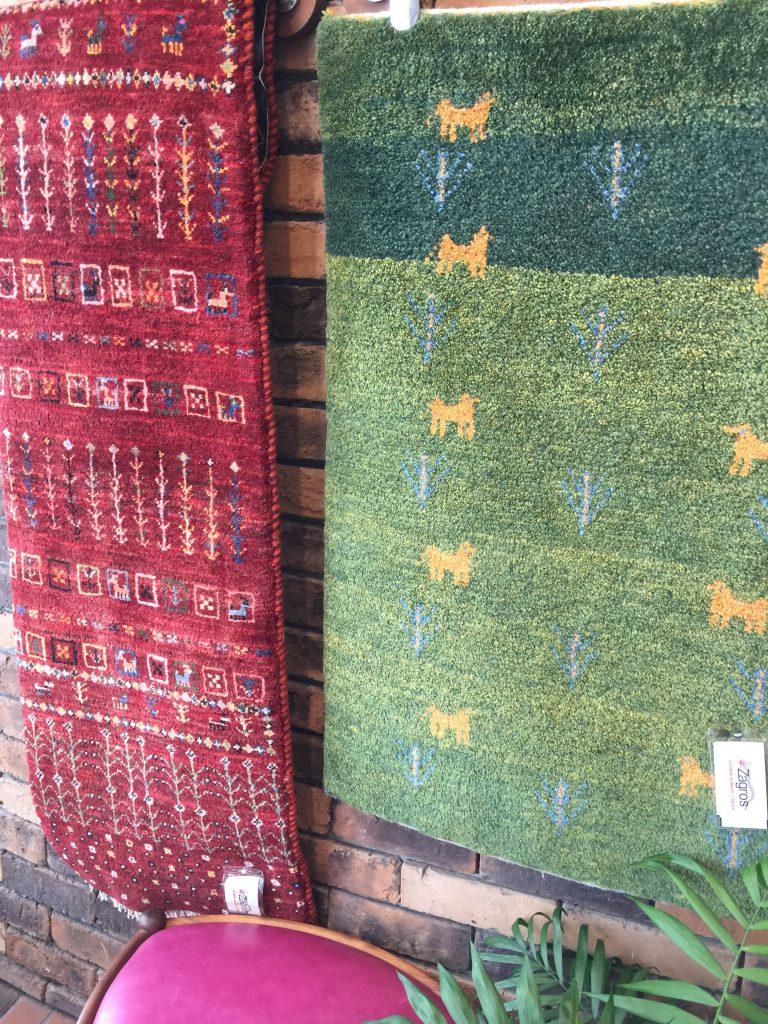 ウール,草木染,敷物