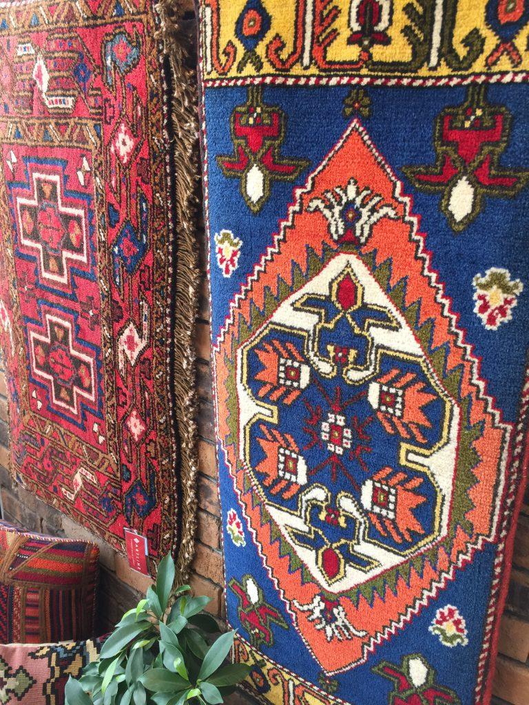 ウール,草木染,敷物,トルコ,イラン