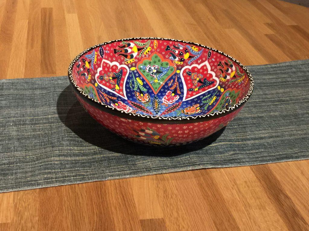 トルコ陶器  26㎝ボウル