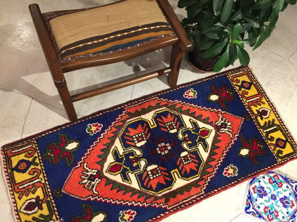 ヤストゥク,手織り,遊牧民,年代物,美しい,心地よい,羊毛,手紡ぎ,トルコ,アナトリア,キリムチェア